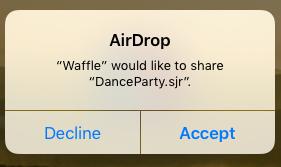 Hộp thoại AirDroprecipient